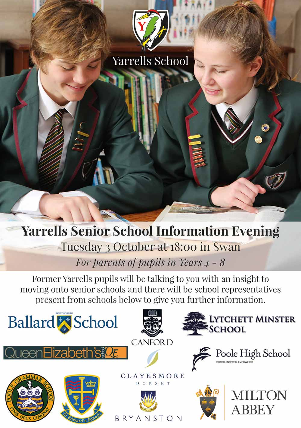 Yarrells Senior-School-Information-Evening-Flyer